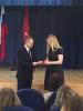 Церемония награждения медалью